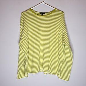 Eileen Fisher Wool Striped Sweater Size M